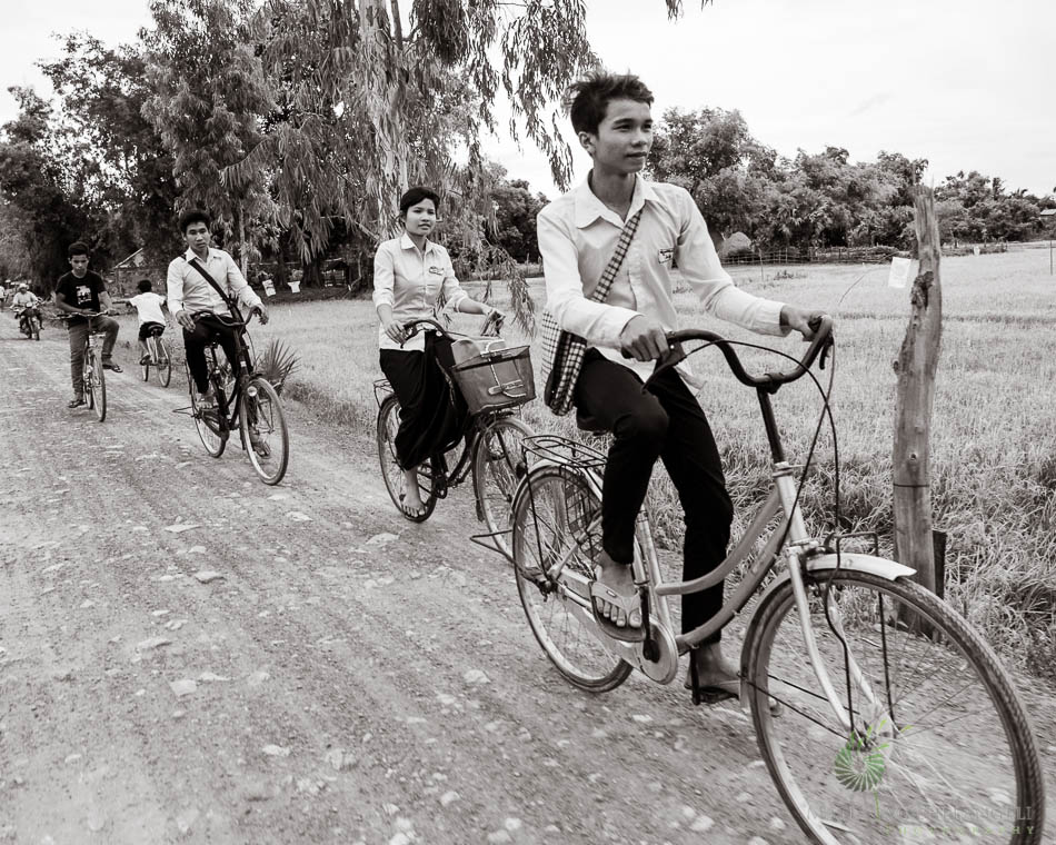 Cambodia, Siam Reap, Biking, Teenagers, school
